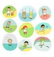 collection of team sports cartoon vector image