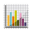 colorful silhouette with statistic graphic bars vector image