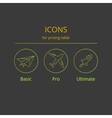 Icons for tariff plans vector image