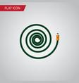 isolated garden hose flat icon hosepipe vector image