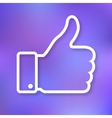 Linear of thumb up icon vector image