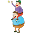 Man with son on shoulders vector image
