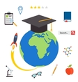 Set icons for education online education vector image