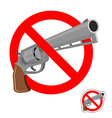 Stop gun Prohibited entry of weapons Colt crossed vector image