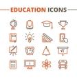 trendy school icons set Minimalistic line vector image
