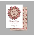 Wedding Invitation Red Berries vector image