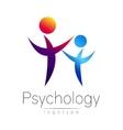 Modern people psi logo of Psychology Family Human vector image
