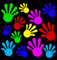 handprints background vector image