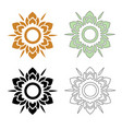 thai pattern flower vector image vector image