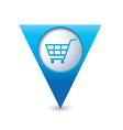 shop basket icon pointer blue vector image