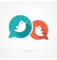 twitter birds vector image vector image