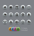 E-Shopping Icons Pearly Series vector image