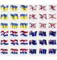 Ukraine Jersey Paraguay New Zeland Set of 36 flags vector image