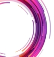 Abstract colorful technology circles background vector image