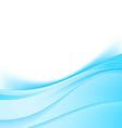 Blue swoosh satin lines border modern background vector image