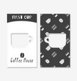 coffee shop business cards vector image
