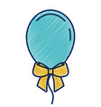 decoration celebration balloon with bow ornament vector image