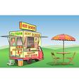 Hot Dog Ice Cream vector image