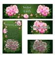 Set of four cards with the image of pink roses vector image