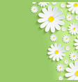 Spring green nature background with chamomile vector image