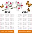 Stylish calendar vector image