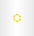 yellow star icon sun logo vector image