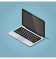 Isometric modern laptop vector image