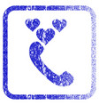 love phone call framed textured icon vector image