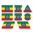 buttons with flag of Ethiopia vector image