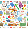 back to school seamless vector image
