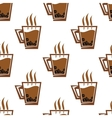 Seamless pattern background with coffee cups vector image vector image