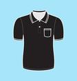 Black polo shirt outline vector image