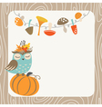Autumn owl vector image