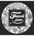 Thank You handmade lettering vector image