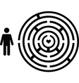 Pictogram people with love maze vector image