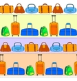 Colorful travel bags striped seamless pattern vector image