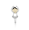 Cute little ballet dancer for your design vector image vector image