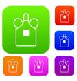 blacksmiths apron set color collection vector image