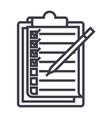 checklistto do list line icon sign vector image