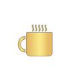 Hot cup computer symbol vector image