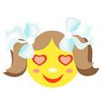 in love smiley girl vector image