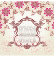Ornate engraved vintage decorative frame wi vector image