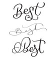 set of best word on white background hand drawn vector image
