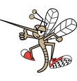 Childrens mosquito cartoon vector image