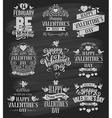Valentine designs set vector image vector image