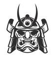 samurai warrior helmet isolated on white vector image