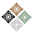 thai pattern art vector image vector image