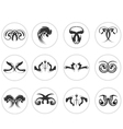 Set of abstract design elements vector image vector image