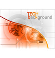 technical background with orange line vector image