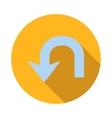 U turn icon flat style vector image